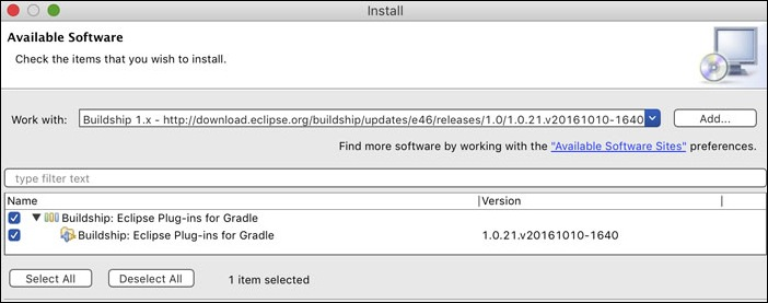 Installing Gradle BuildShip 1.x in STS