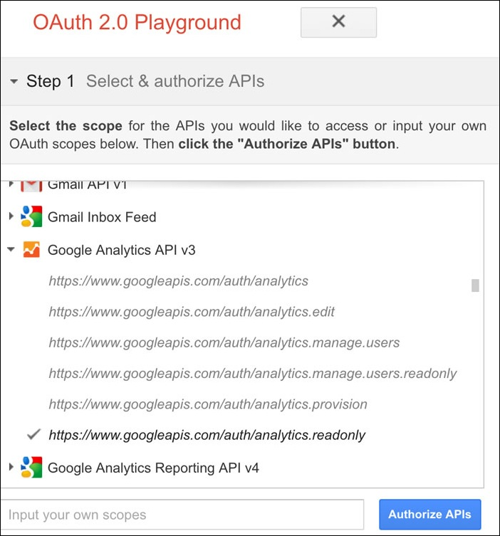 Display Google Analytics Real time Users in Console Using Java