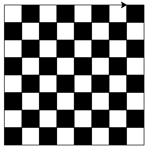 Chess Board Drawing Using Python Turtle Module